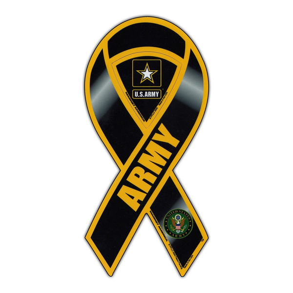 Magnetic Bumper Sticker United States Army Ribbon Support Pride Magnet