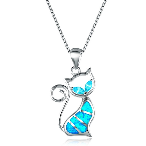 Necklace String and Pendant Cat Woman Yellow Gold GF