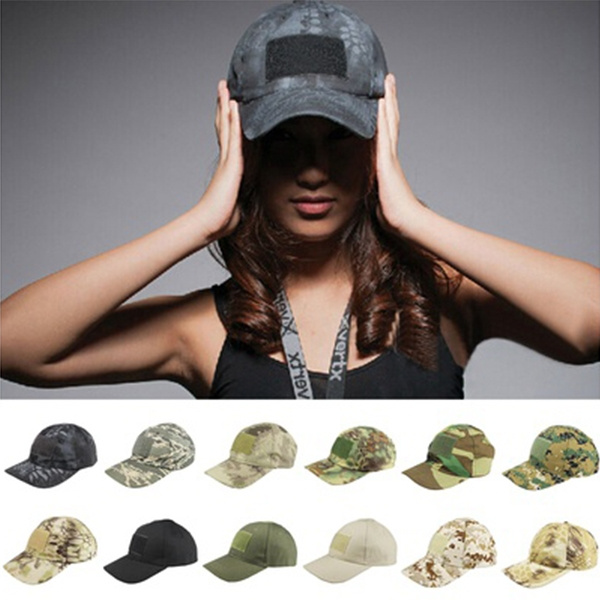Retro Military Army Training Hat Outdoor Sports Camouflage Baseball  Tactical Patrol Adjustable Cap Tactical Field Baseball Hat Trucker Cap  Velcro