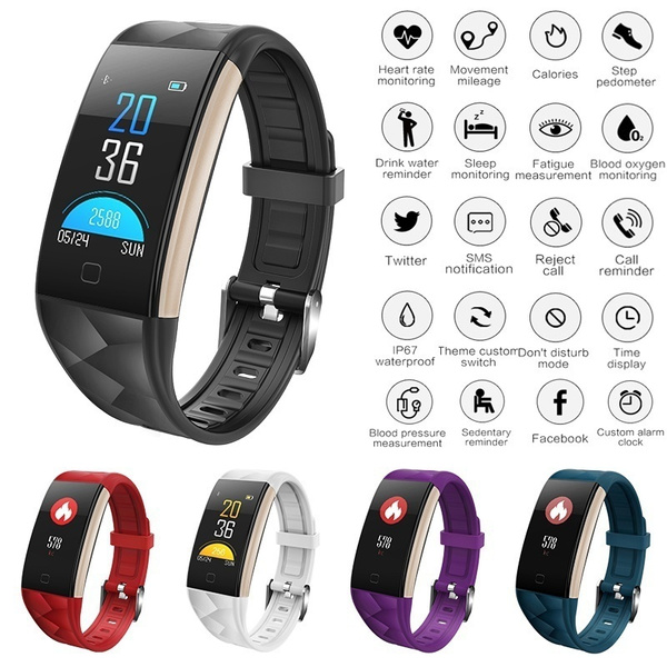 2018 T20 Smart Watch Bracelet Waterproof Colorful Screen Bluetooth Wristband Blood Pressure Heart Rate Monitor Fitness Tracker