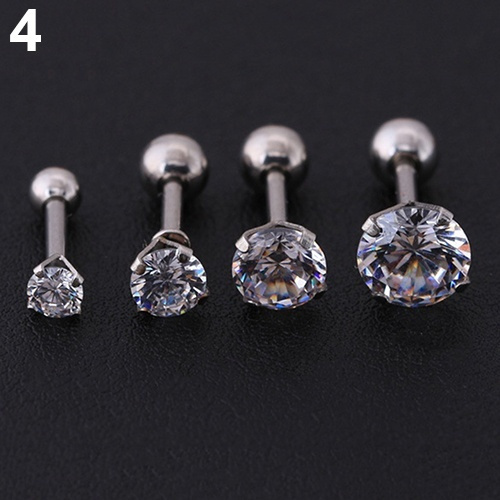 b304a55d3 High Quality 1 PC Men Women Rhinestone Cartilage Tragus Bar Helix ...