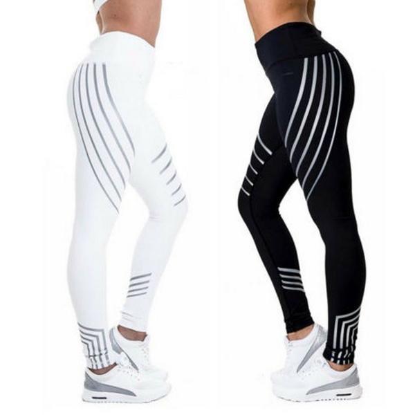Women Printed Leggings Yoga Gym Fitness Running Sport Stretch Pants Slim Trouser