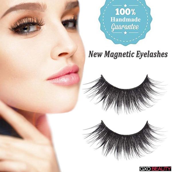 bd68728b8ac Hot Sale Thick Long Cross Party Magnetic Eyelashes False Eyelashes ...