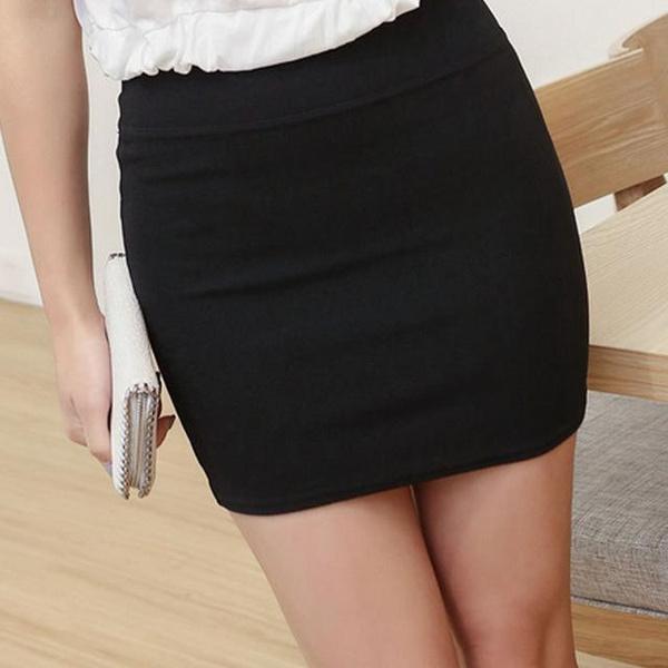 e2260885b Nueva Mini faldas 2018 faldas atractivas ocasional faldas cortas apretada