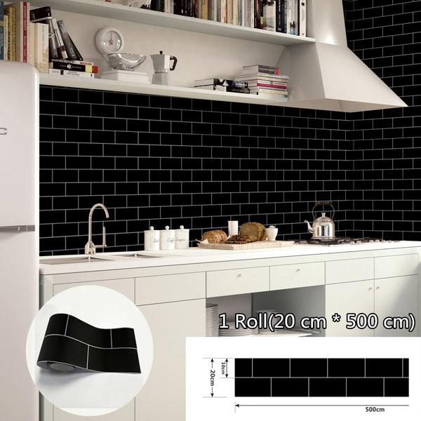 Premium Pearlized PVC Self Adhesive Wallpaper Furniture Renovation Bathroom  Kitchen Cabinet Backsplash Solid Color Waterproof Vinyl Wall Paper