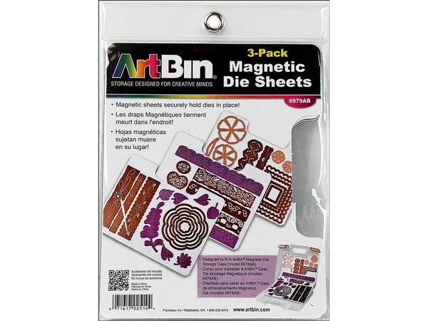 Pack of 3 Artbin 6979AB Magnetic Die Sheets