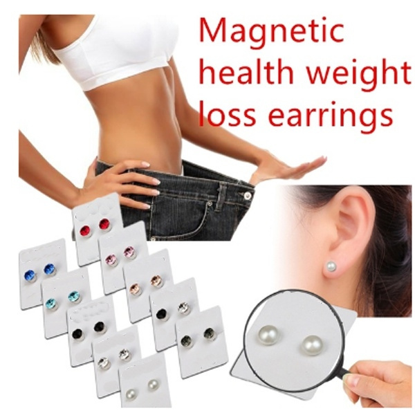 New fashion magnetic weight loss earrings, fashion diamond pearl magnetic  earrings, health points to stimulate weight loss earrings