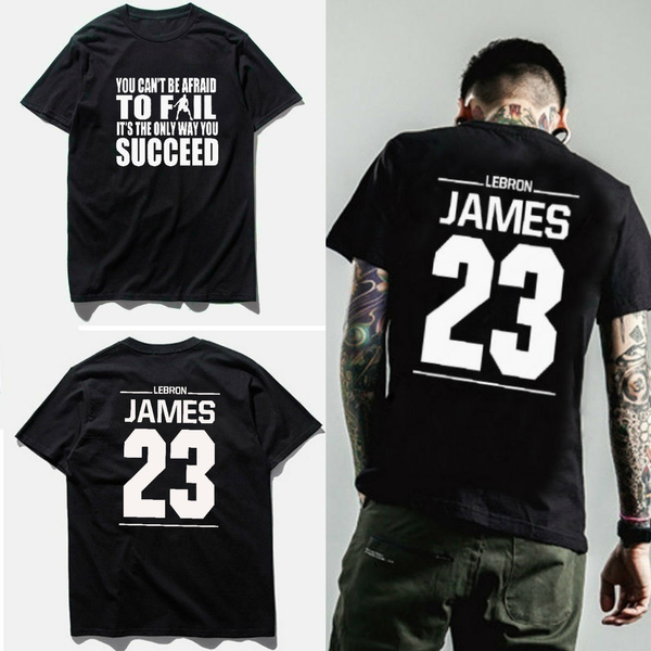 best website ae541 84e3d Lebron James #23 Inspirational Quote Printed T Shirts Men Summer Fashion  Cool Short Sleeve T-shirt Basketball Jersey