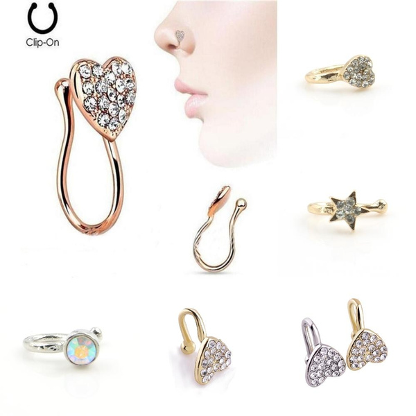 Hot Products Fake Septum Piercing Nose Rings And Studs Noseclip