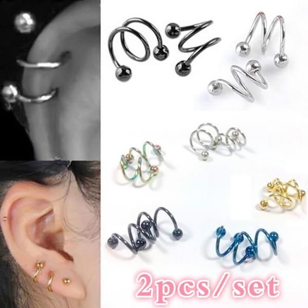 barbellearring, Steel, Fashion, Jewelry