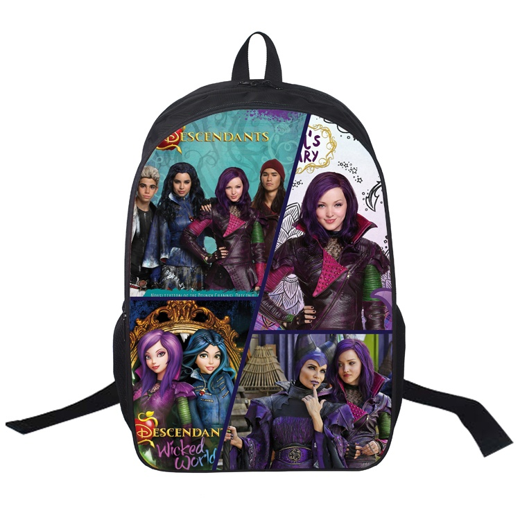 9cb9f84e0ae 16 Inch Descendants Backpack For Teenagers Boys Girls School Bags ...