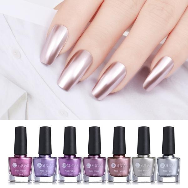 6ml Mirror Effect Metallic Nail Polish UR SUGAR Purple Rose Gold ...
