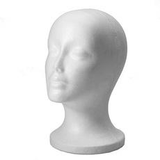 modelhead, wig, foammannequinheadmodel, Display