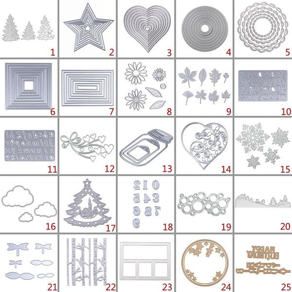 stencil, Christmas, cuttingdie, Metal