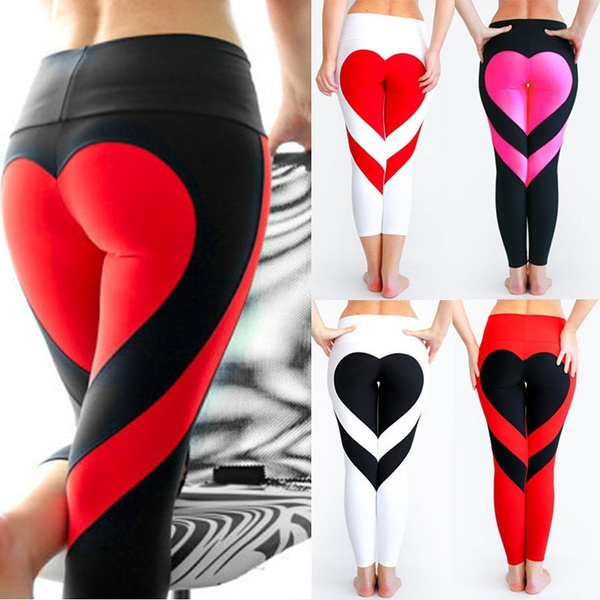 Design, Heart, Leggings, Fashion