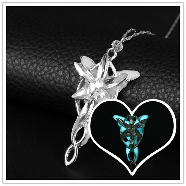LOTR Lord Of The Rings Hobbit Aragorn Arwen EVENSTAR Necklace Pendant Silver New