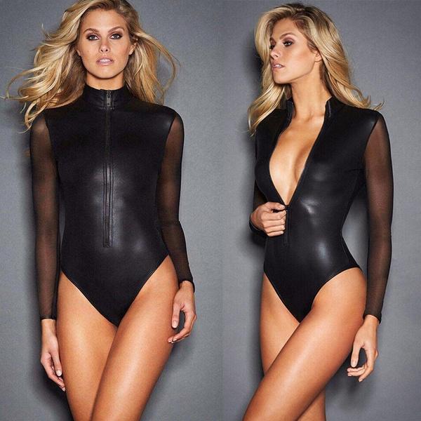 clubwear, Sleeve, leather, turtleneck