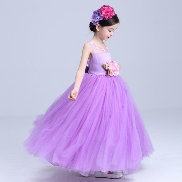 Wish | Purple Cheap Flower Girl Dresses 2018 In Stock Princess Ball ...
