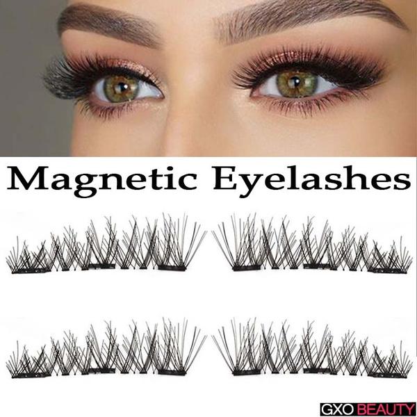 111644f5be3 3D Double/Triple Magnetic Eyelashes Magnet False Eyelashes Full ...