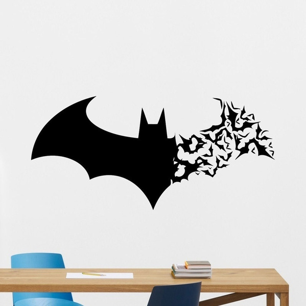 kidsroomdecal, roomsticker, batmansticker, walldecalforboy