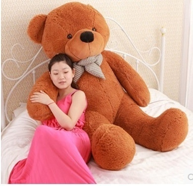 Wish | Giant Big Cute Plush Stuffed Teddy Bear Soft 100% Cotton Toy Bowknot  Bear