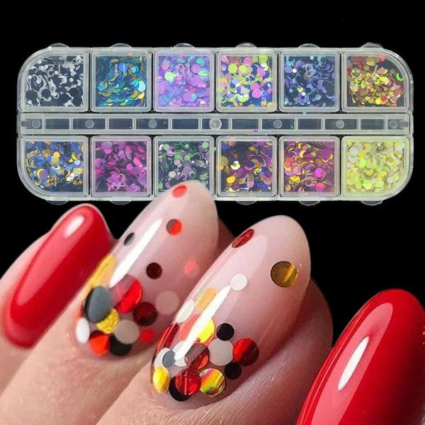 nail decoration, sequinsnail, art, Glitter