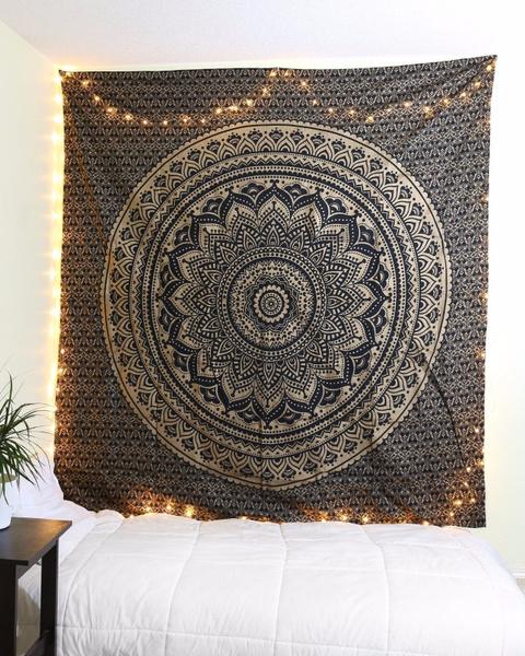 Wish Mandala Tapisserie Boheme Dortoir Decor Hippie Tapisserie