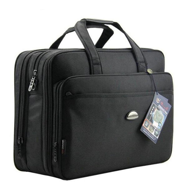 17 Inches Briefcases Business Men Bag Oxford Laptop Computer Bags Mens Handbags