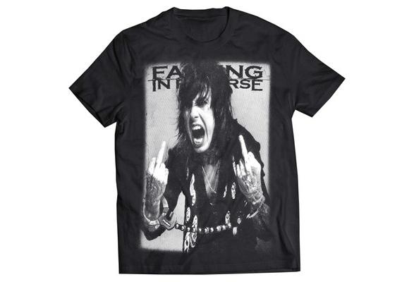 3XL New Falling In Reverse Metal Rock Band Logo Men/'s White T-Shirt Size S