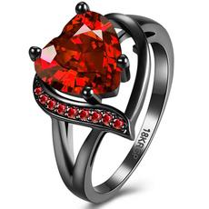 Cubic Zirconia, Heart, wedding ring, gold