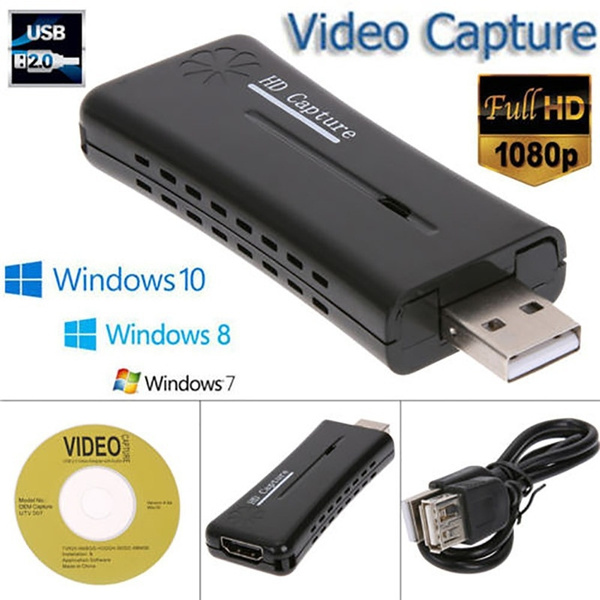 Mini Portable USB 2 0 Port HD Video Capture Card FHD 1080P HDMI Monitor  Video Capture Card for PC Computer