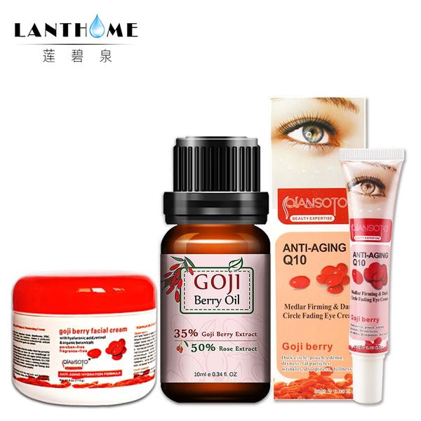Q10 Goji berry facial cream eyes creme Goji Oil Goji cream face Whitening  Anti aging eye cream Remove dark circles under eyes