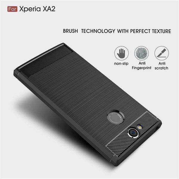 new arrival c7130 79a11 For Sony Xperia XA2 / XA2 Ultra case Shockproof Carbon Fiber Soft tpu  Anti-Knock cover case for Sony XA2 XA2 Ultra Capa Coque