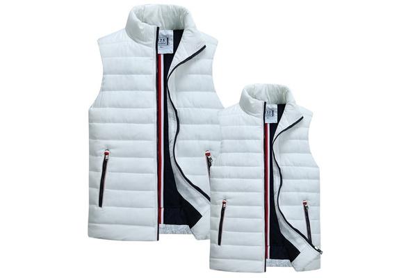 New  Men's Cotton Waistcoat  Couple Cotton Vest Jacket Winter Warm Hit Color Unisex Vest Down Cotton Thick Vest Jacket Gilet Homme