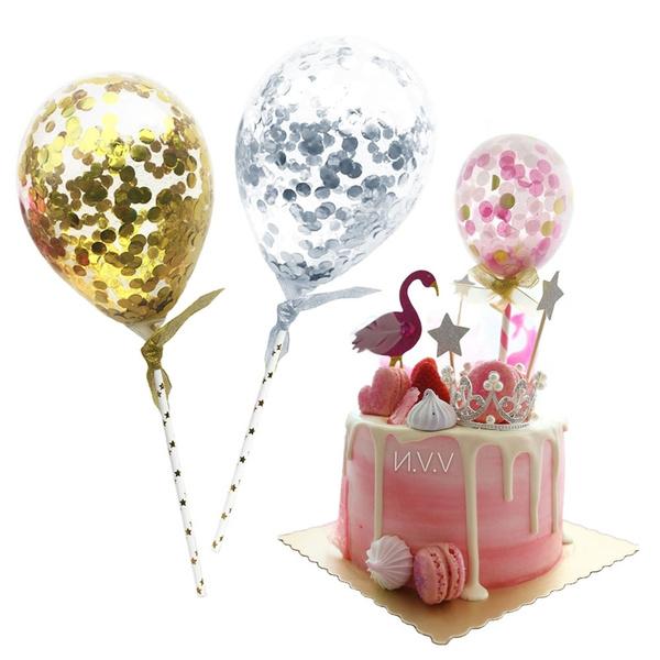 Mini, caketopper, Dessert, Balloon