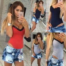 bodycon jumpsuits, blouse, sleeveless, Fashion