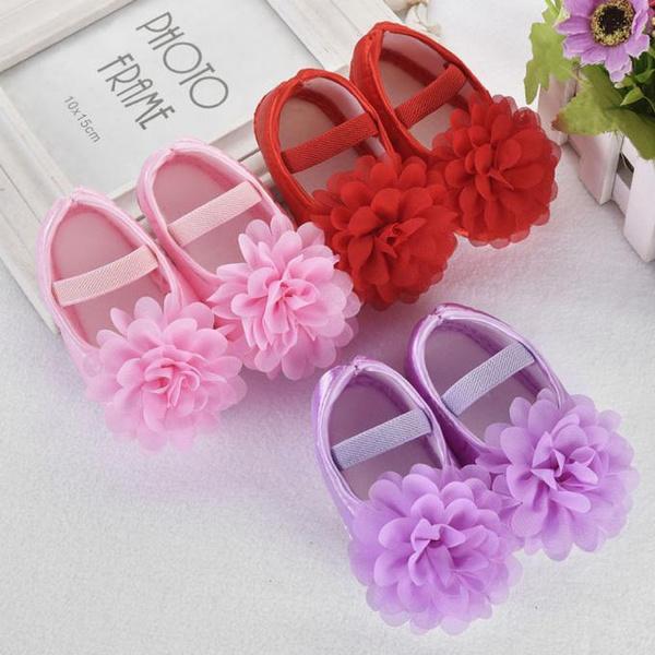 Flowers, Baby Shoes, Elastic, cuteshoe