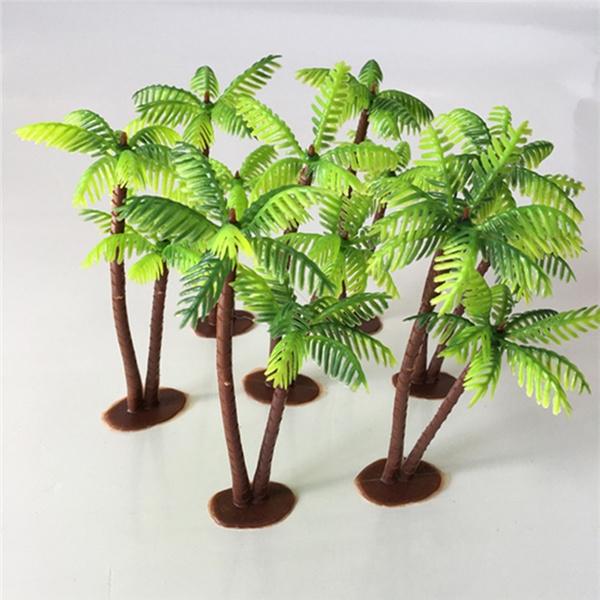 Diy Decor Micro Landscape Bonsai Craft Miniature Plant Pots Plastic Coconut Palm Tree