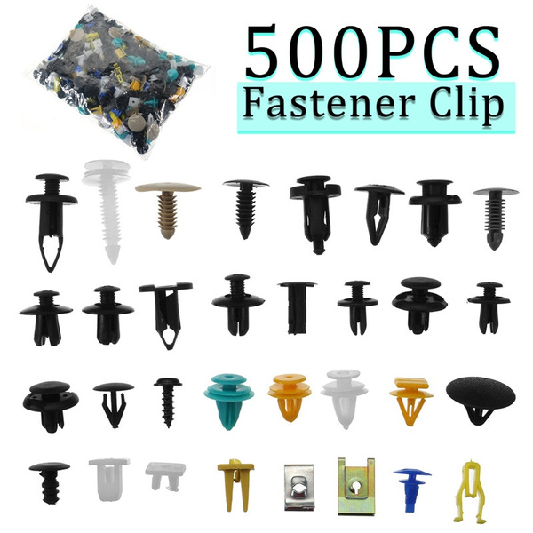 Mixed 500Pcs Car Door Panel Bumper Fender Fastener Retainer Rivet Push Pin Clip