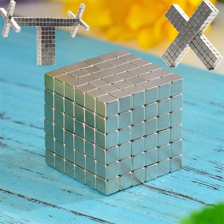 New Fashion 216 Pcs 3mm/4mm/5mm Neodymium Neocube Cube Fun Powerful Square  Magnets