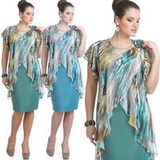 Women, short sleeve dress, chiffon, Chiffon Dresses