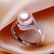 Beautiful, Fashion, emeraldring, 925 silver rings