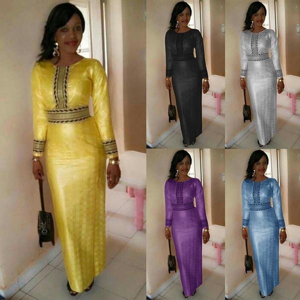 9f317577e 2018 Fashion Dashiki Dress Women Traditional Tribal African Print ...