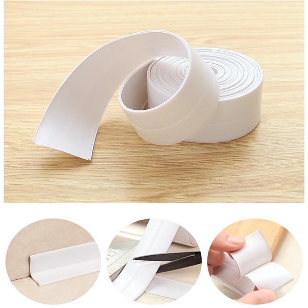 Corner Line Waterproof Caulk Tape Self Adhesive Wall Sealing Tape Mildewproof Caulk Sealer Bumper Strip 126