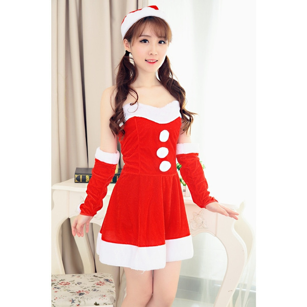 18bf65a046f9 Onlinedeal Women Sexy Santa Christmas Costume Fancy Dress Xmas Office Party  Outfit | Wish