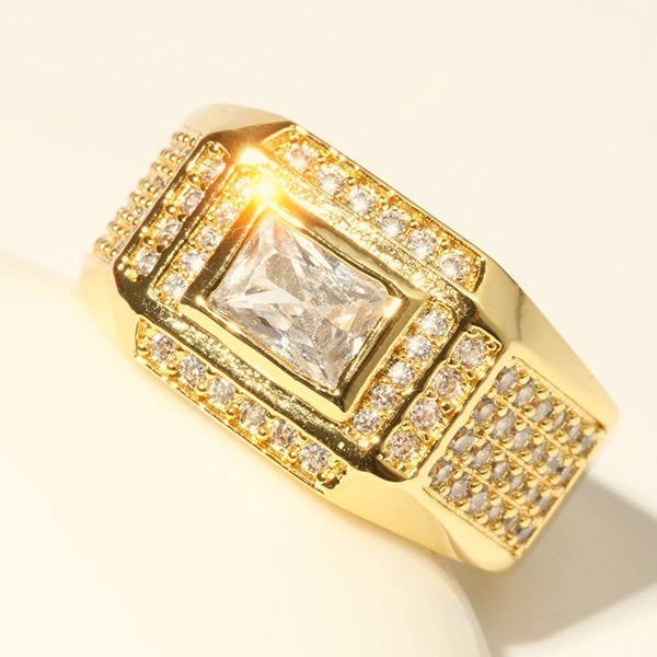 goldplated, Cubic Zirconia, Engagement, Jewelry