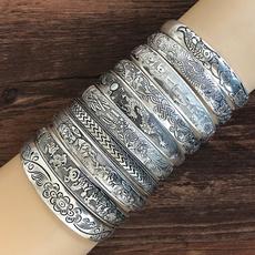 totemcarved, Jewelry, Vintage, openingbracelet