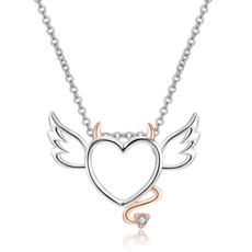 Sterling, Heart, 18k gold, 925 sterling silver