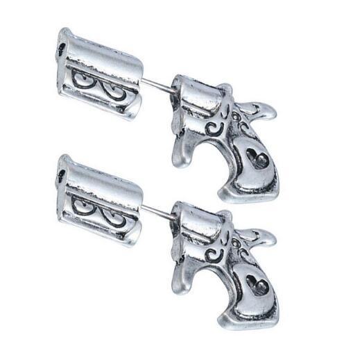 Jewelry & Accessories New Fake Double Pistol Gun Shaped Faux Plug Stud Earrings For Women Stud Earrings