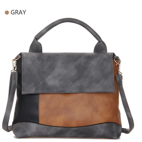 8ed064fed225 Female's Fashion Patchwork Pu Leather Handbags Casual Luxury Brand Shoulder  Bag Designers for Women 2018 Ladies Hand Bags